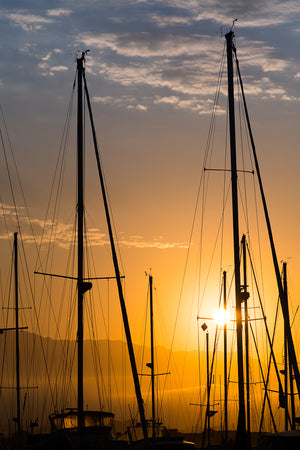 Santa Barbara Harbor Sunrise - John Manzoni Photo