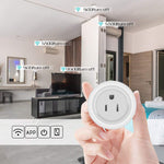 WiFi Smart Plug  Mini Wireless Plug Outlet Remote Voice Control Intelligent Socket with Timing Function Home Smart Switch Plug
