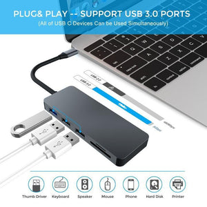 (FREE SHIPPING)MACBOOK PRO USB TYPE-C HUB TO HDMI ADAPTER