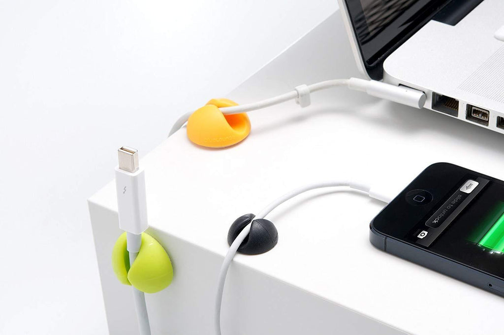 Desk Cable Drop, Desk Wire Clips for All Your Computer, Electrical, Charging or Mouse Cord (Colorful ,6pcs)