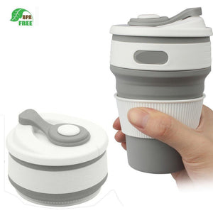 DOCAM Collapsible Silicone Cup Food-grade Reusable Travel Mug for Outdoor Camping Hiking Picnic BAP Free Leak-proof Pocket Foldable Cups