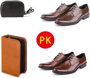 Today 50% OFF!Shoe Shine Kit with PU Leather Sleek Elegant Case, 7-Piece Travel Shoe Shine Brush kit