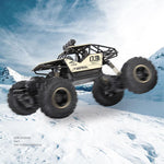 Super alloy off-road four-car rechargeable remote-controlled car boys high speed big foot climb racing children's toys