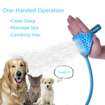 Pet dog summer bath magic device massage and grooming multi-functional