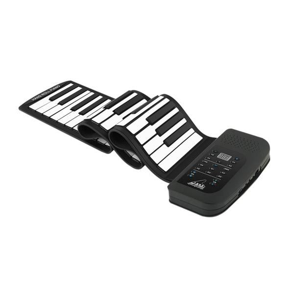 [60% OFF Today ] Portable Roll-Up Flexible Electronic Piano Keyboard with Full Soft Responsive Keys Built-in Speaker