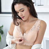 Lace Bralette Plus Size Bra Women Seamless Padded Push Up Plunge Bra Wire Free Sexy Lingerie Underwear Women
