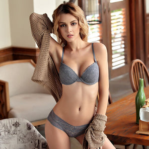 Summer Soft  Deep V sexy lingerie gather lace beauty women bra sets
