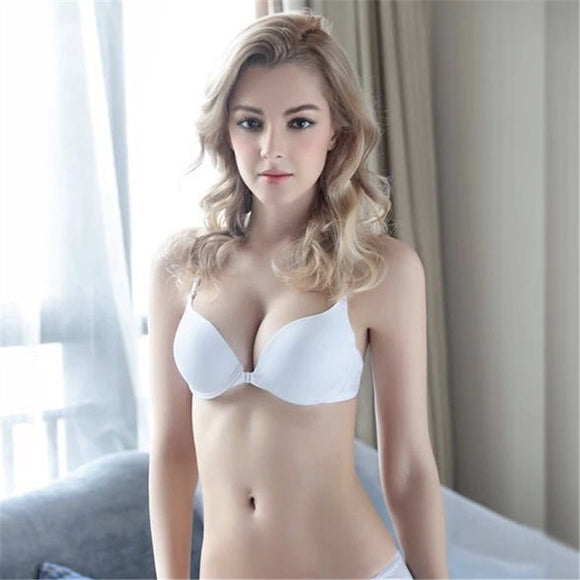 2018 new lingerie front buckle underwear female thin section with beautiful back gather girl student sexy bra