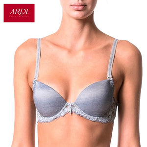 Woman's Blue Bra With A Molded Foam Cups On Frames Lace ARDI R1520-05