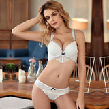 2019Women's Bras Sexy Intimate Underwear Plus Size Bra Underwired Floral Lace Print Push Up Lingerie Mother's Gifted Black White