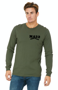 "MA22 OD Green ""22"" long sleeve"
