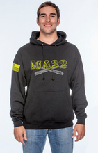 Load image into Gallery viewer, MA22 hooded Sweatshirt - Black OPS & REDFRIDAY