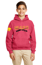 Load image into Gallery viewer, YOUTH -  MA22 hooded Sweatshirt - Black OPS & REDFRIDAY - kids size