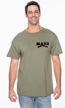 "Load image into Gallery viewer, MA22 OD Green ""22"" triblend T Shirt"