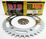 XR80R 1985-2003 CFR80 2004-2013 DID420D Chain and Sprocket Set
