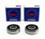 Two 6301 2RS Front Wheel Bearings