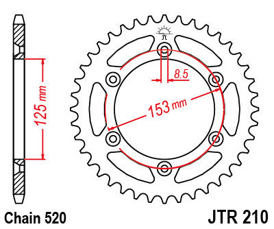 Honda Crf150 Rear Sprocket