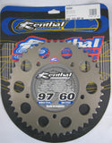 Rear Sprocket Renthal Alloy 409-520-46P-HA