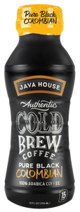 JAVA HOUSE® - Pure Black - Colombian - Ready to Drink - 12-Pack