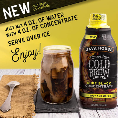 Colombian Cold Brew Coffee 1:1 Concentrate, 32 oz.