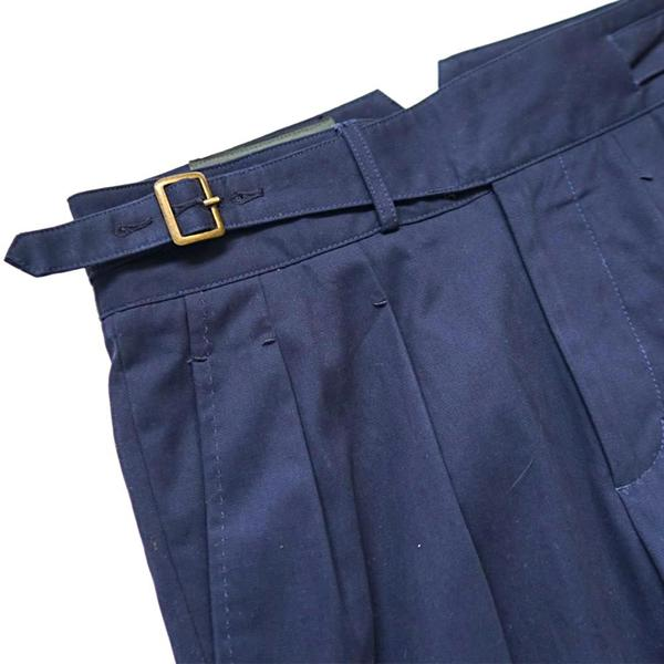 Midnight Navy Summer Cotton Gurkha Trousers