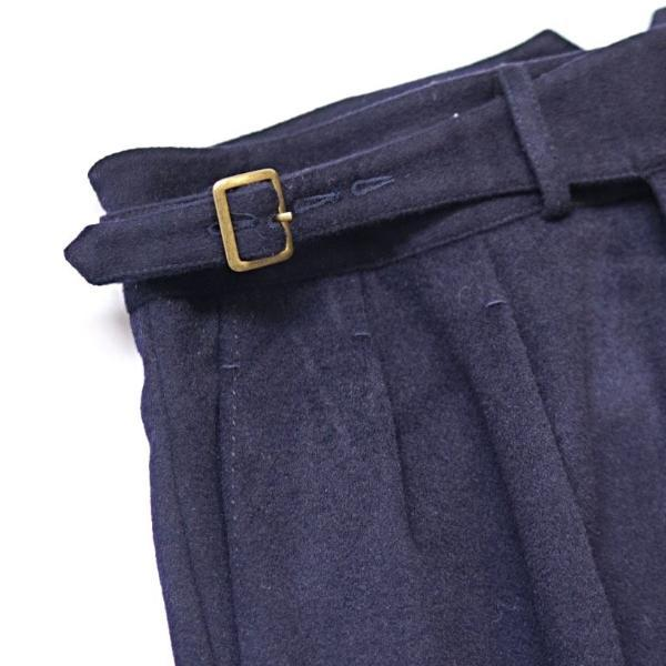 Midnight Navy Winter Flannel Gurkha Trousers