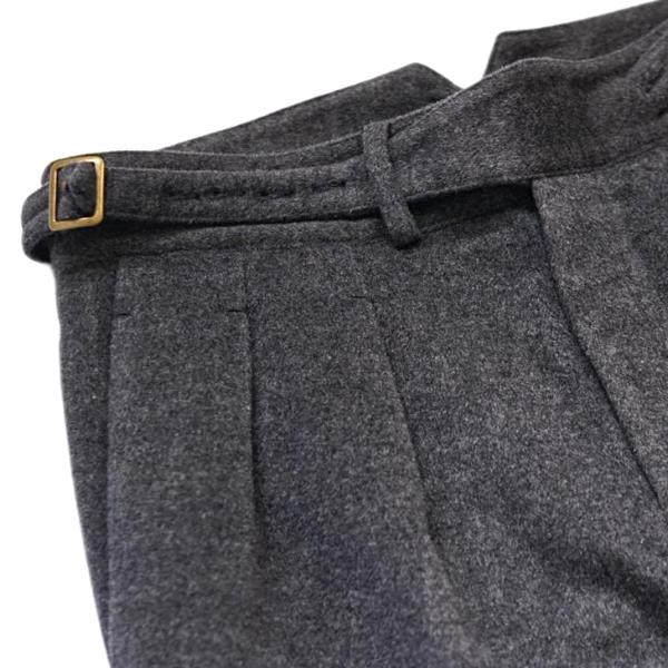 Charcoal Winter Flannel Gurkha Trousers