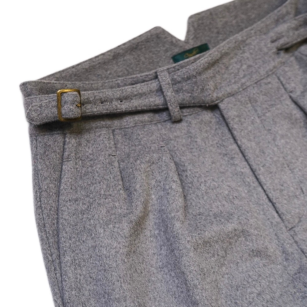 Light Grey Flannel Gurkha Trousers