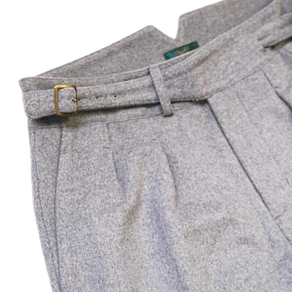Light Grey Winter Flannel Gurkha Trousers