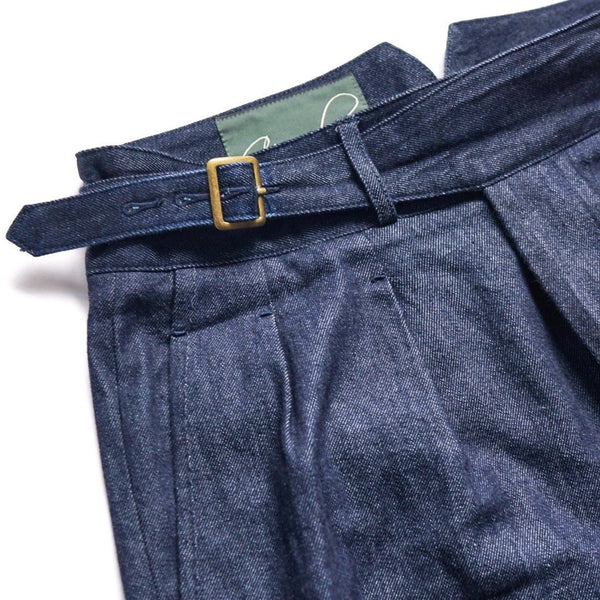 Raw Japanese Denim Gurkha Trousers