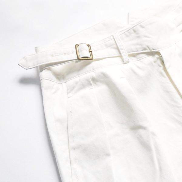 Off White Summer Cotton Gurkha Trousers