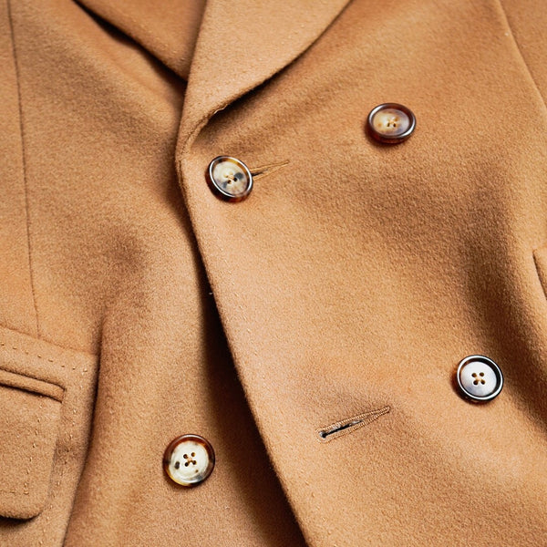 JULIAN Unstructured Polo Coat In Cashmere Blend