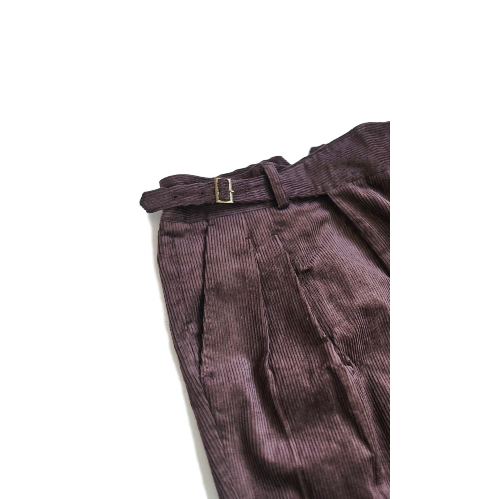 Coffee Corduroy Gurkha Trousers