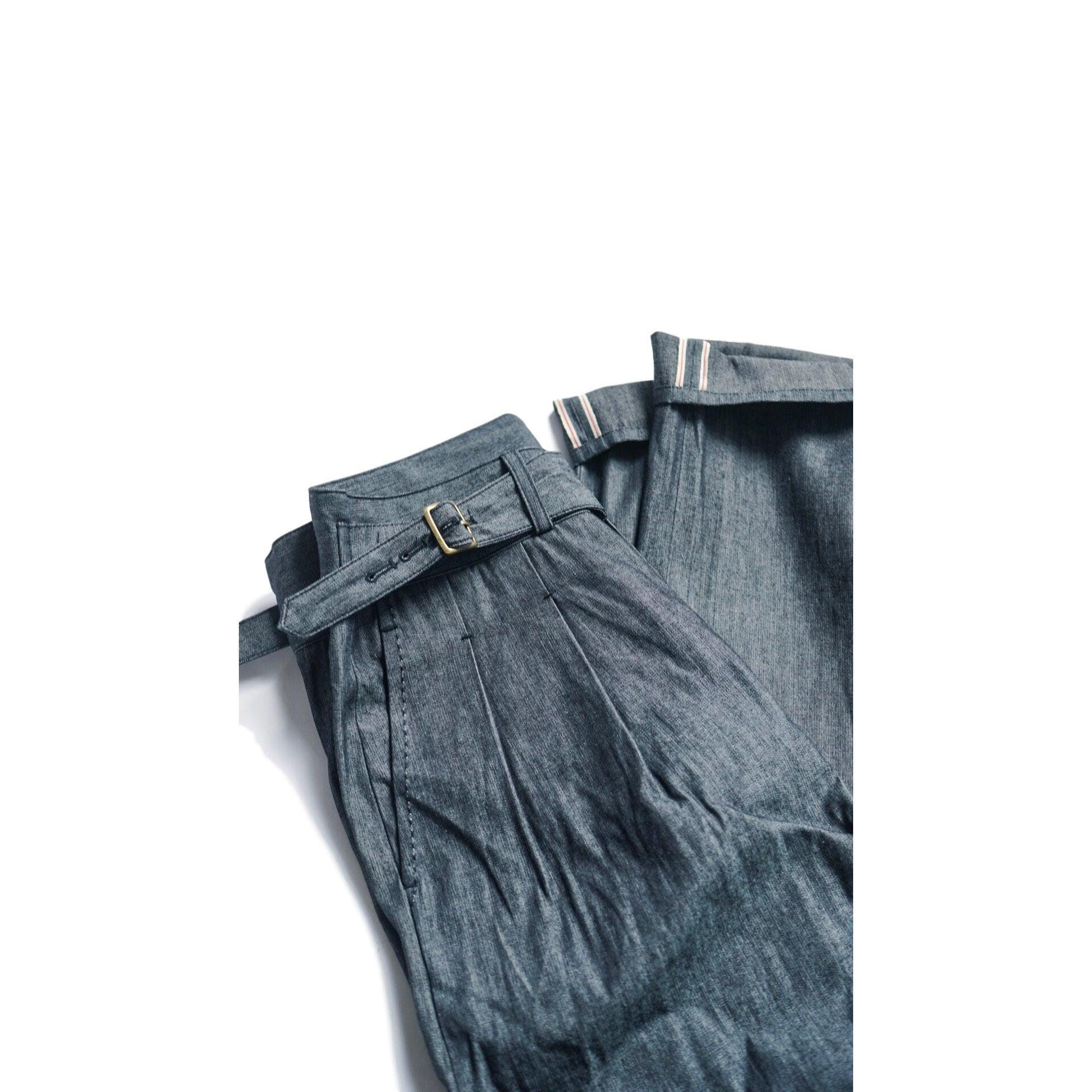 Natural Dyed Selvedge Japanese Denim Gurkha Trousers