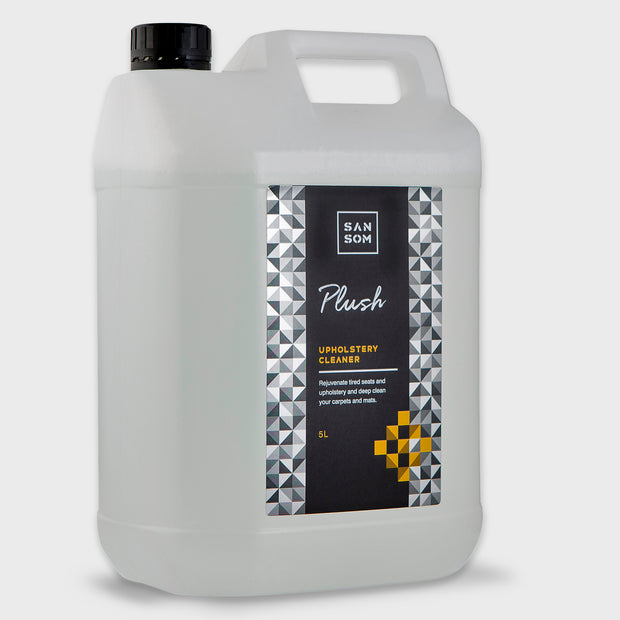 Plush fabric upholstery cleaner 5L grey background