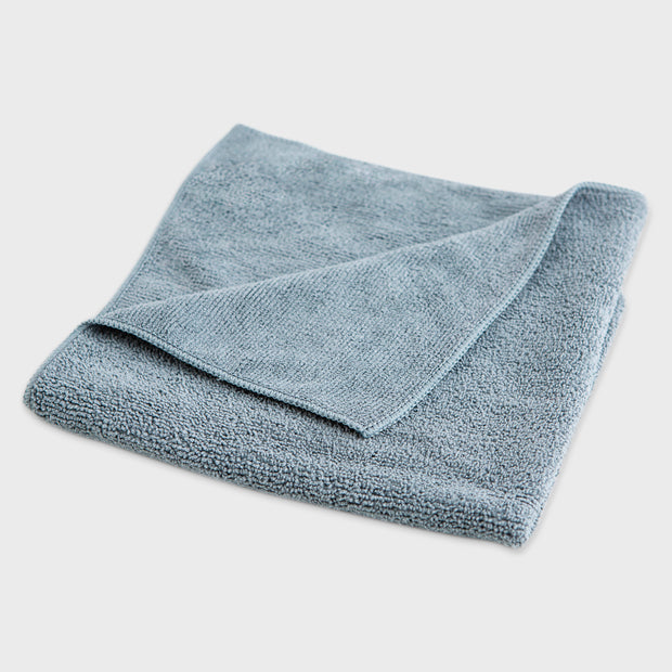 grey microfibre work cloth grey background