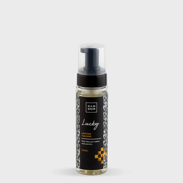 Lucky Leather Cleaner 250ml grey background