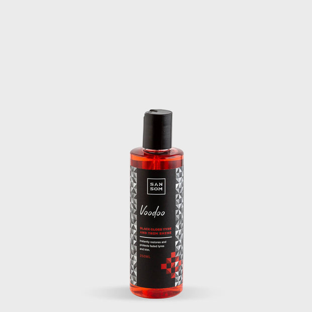 Voodoo tyre and trim shine gel 250ml grey background
