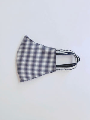 Black Gingham Cotton Mask