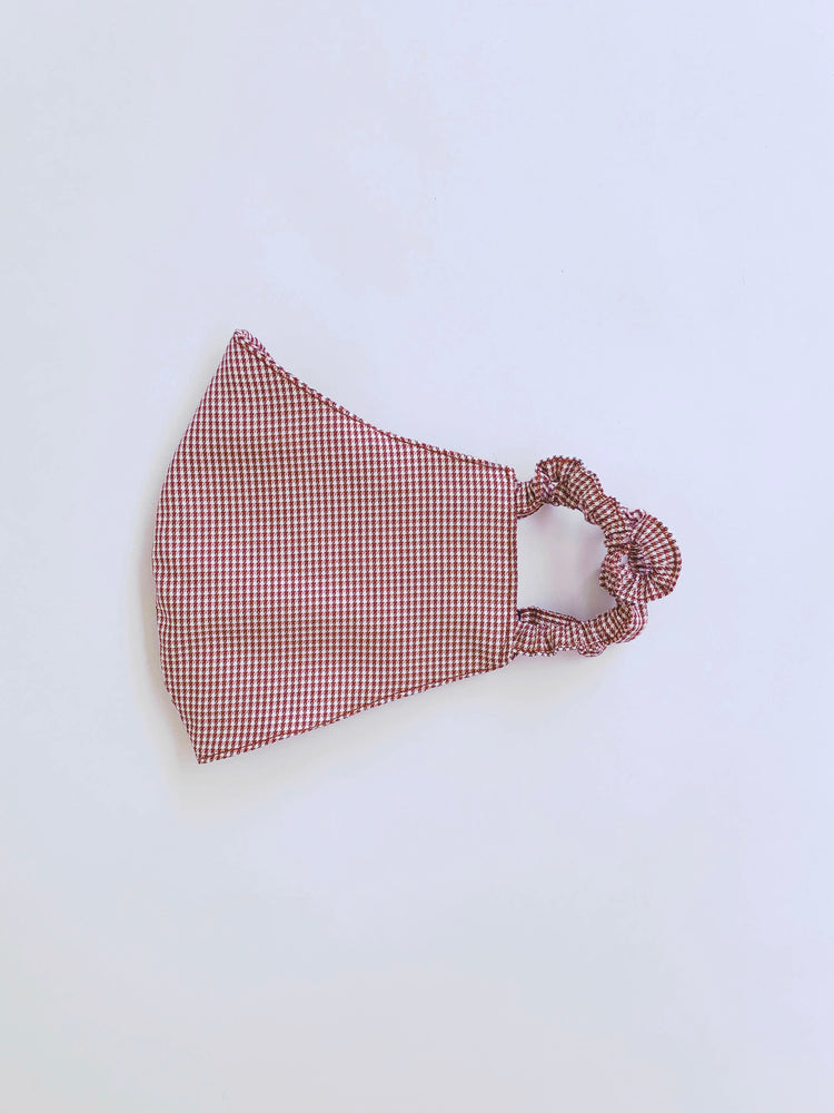 Red Gingham Cotton Mask