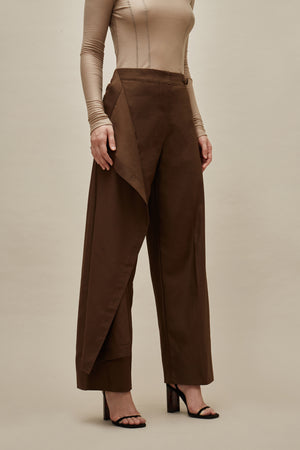 Two-way Cotton Panel Trousers