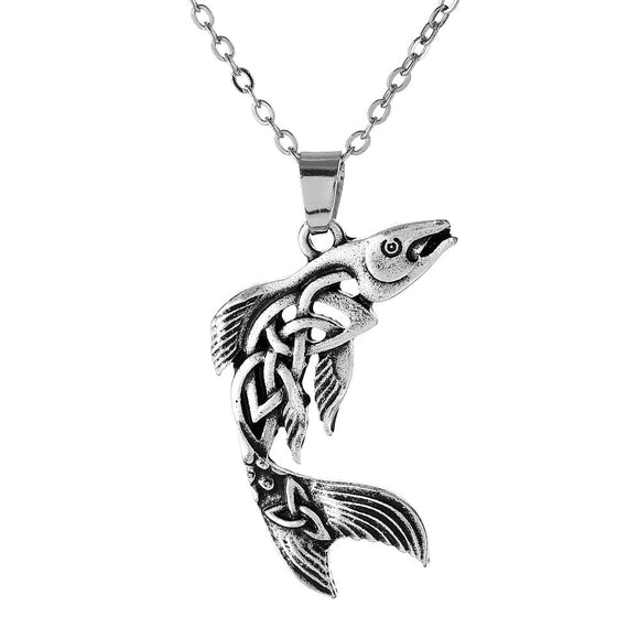 New! Celtic Salmon Pendant