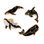 Whale Constellation Enamel Pins 4-Piece Collection