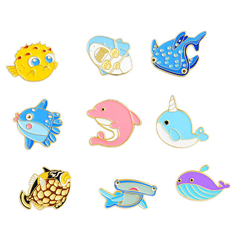 Ocean Friends Enamel Pins
