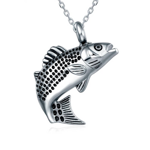 Stainless Steel Fish Urn Necklace