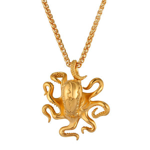 Octopus Stainless Steel Deluxe Necklace