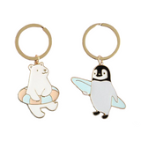 New! Polar Bear and Penguin Keychains