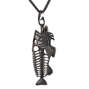 Fish Bones Stainless Steel Deluxe Necklace