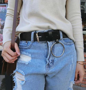 Wide belt with hoop