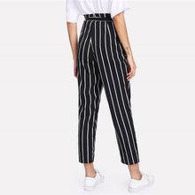 Load image into Gallery viewer, High-waist striped pants